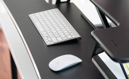 Spacious Keyboard Tray Work Space