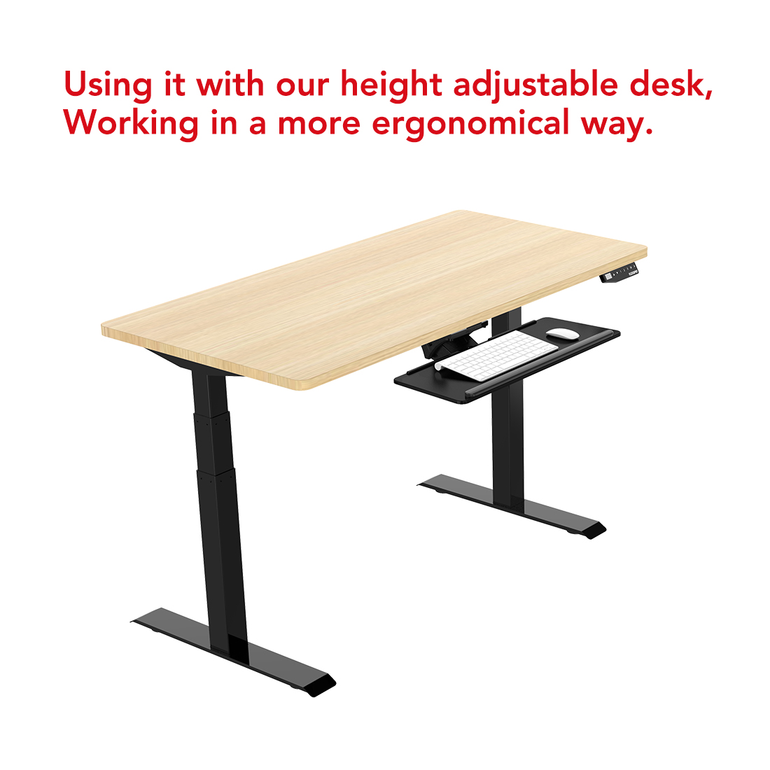 able to use with height adjustable desk